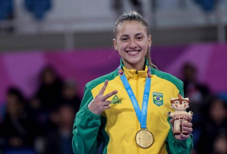Milena Titoneli é uma das principais lutadoras de taekwondo do Brasil