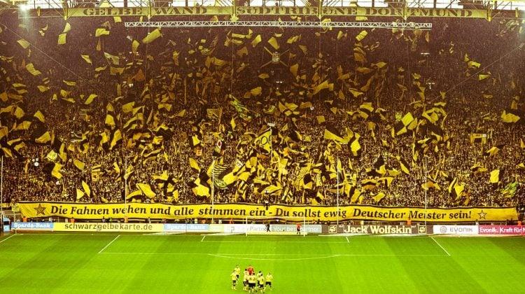 O Borussia Dortmund tem uma das maiores torcidas da Alemanha