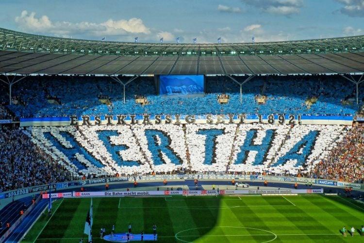 O Hertha tem uma das maiores torcidas da Alemanha
