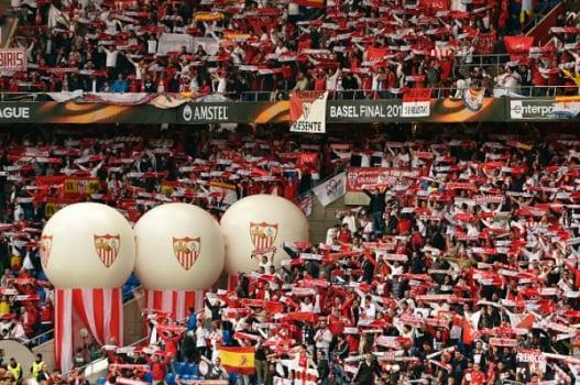 O Sevilla tem uma das maiores torcidas da Espanha